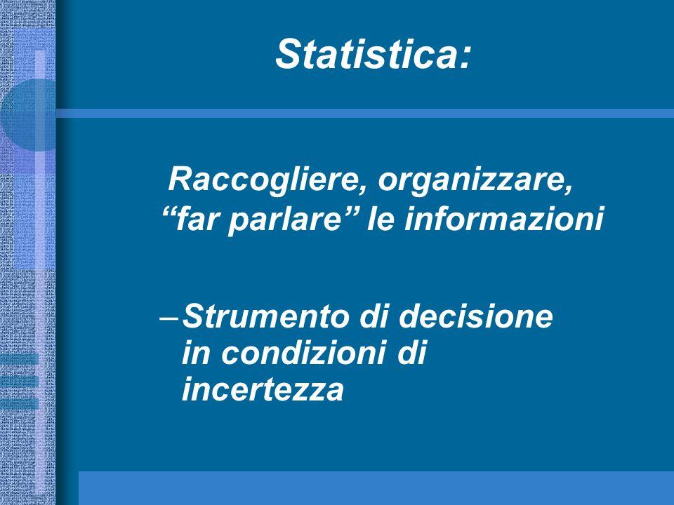 Raccogliere, organizzare, far parlare le informazioni