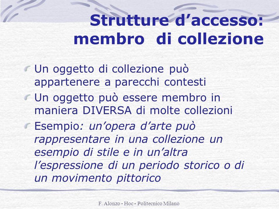Strutture d'accesso: membro di collezione