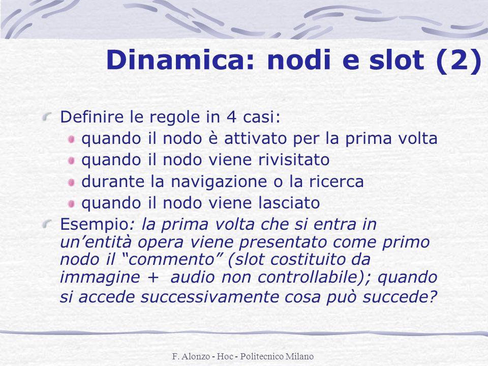 Dinamica: nodi e slot (2)