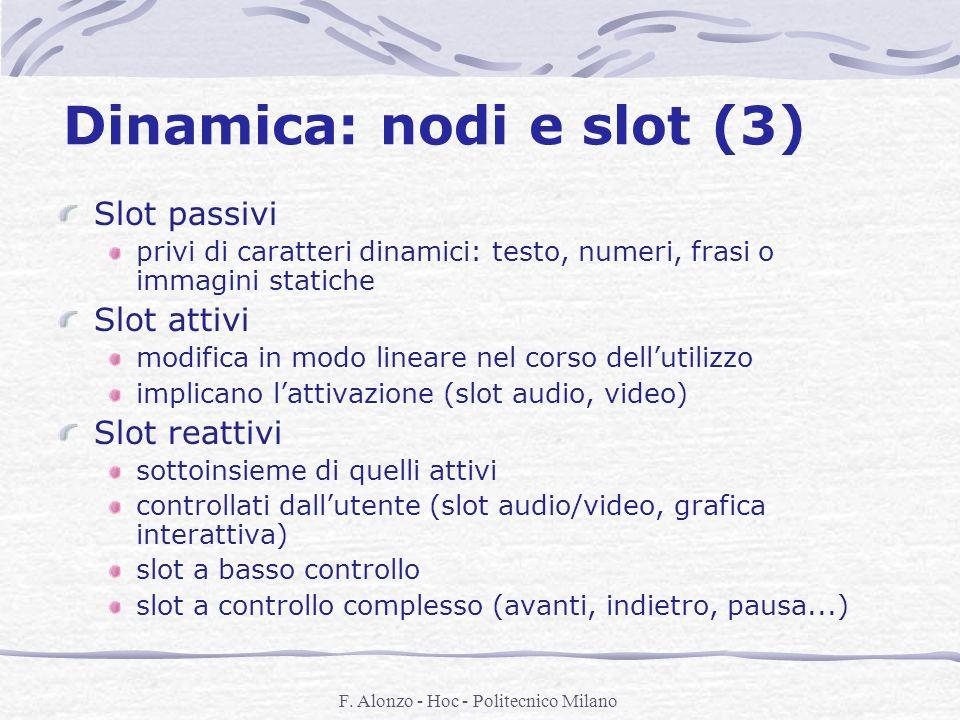 Dinamica: nodi e slot (3)