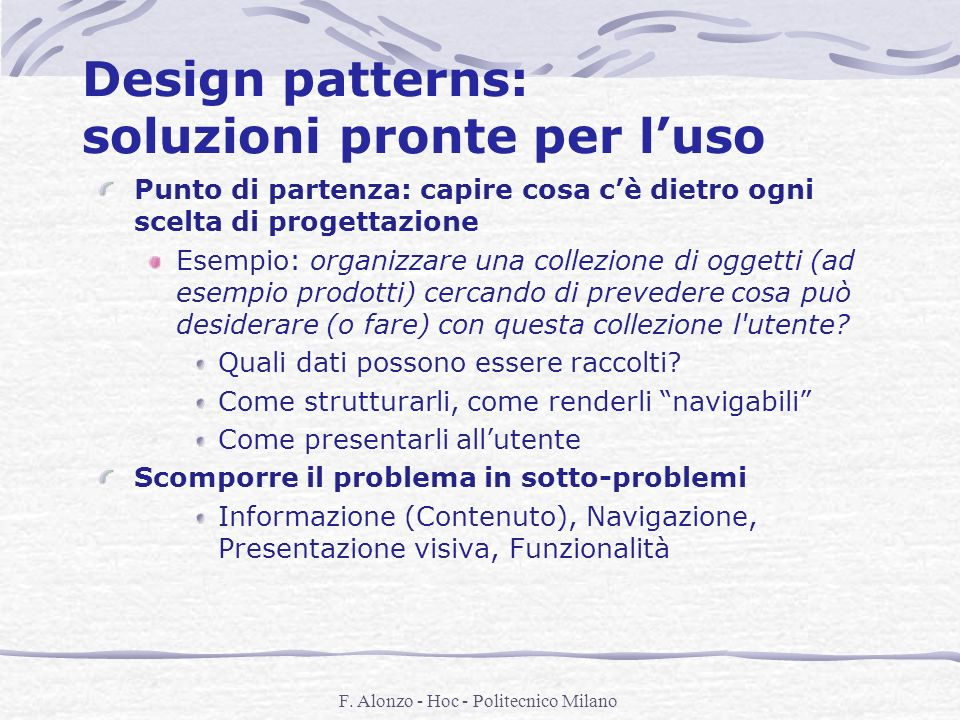 Design patterns: soluzioni pronte per l'uso