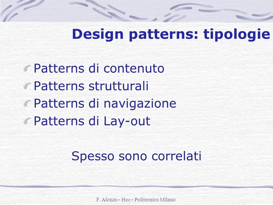 Design patterns: tipologie