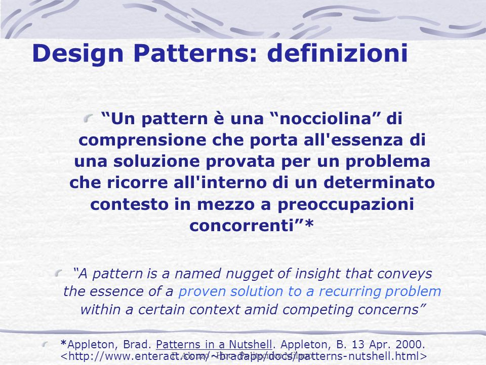 Design Patterns: definizioni