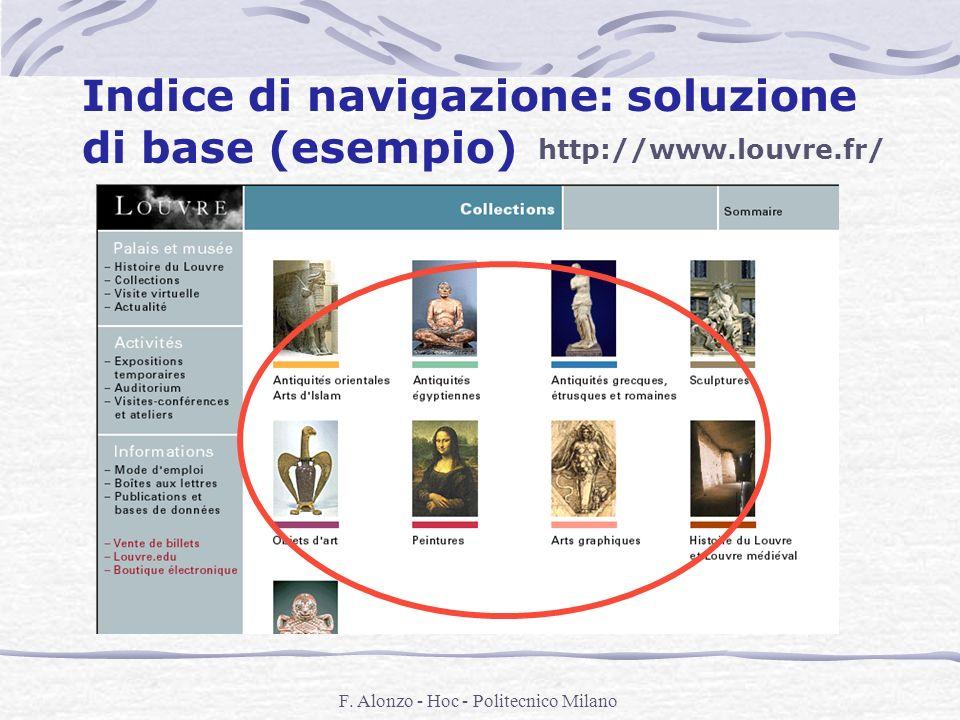 Indice di navigazione: soluzione di base (esempio)