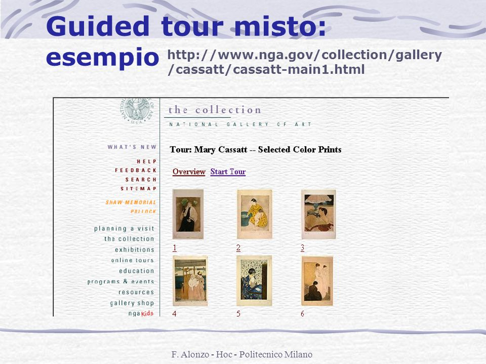 Guided tour misto: esempio