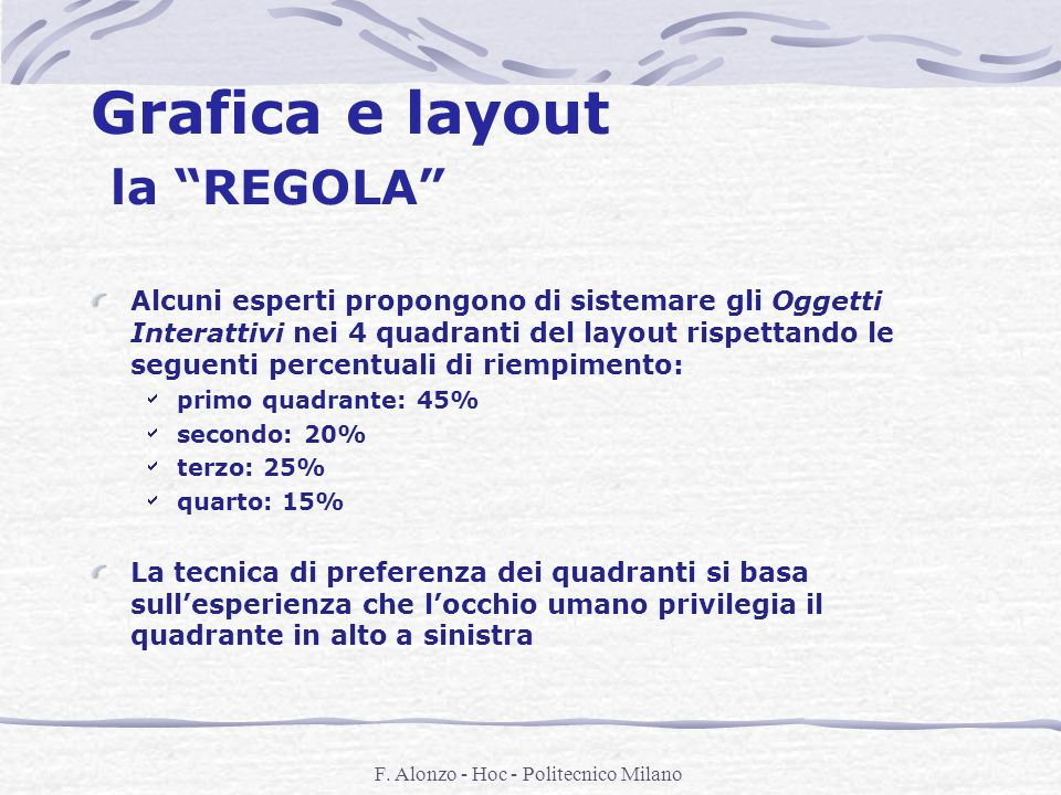 Grafica e layout la REGOLA