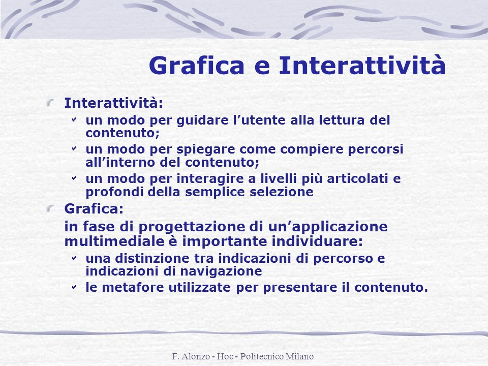 Grafica e Interattività