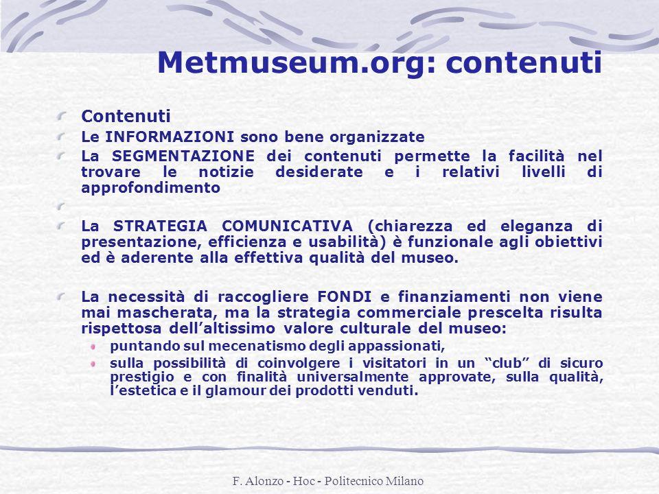 Metmuseum.org: contenuti