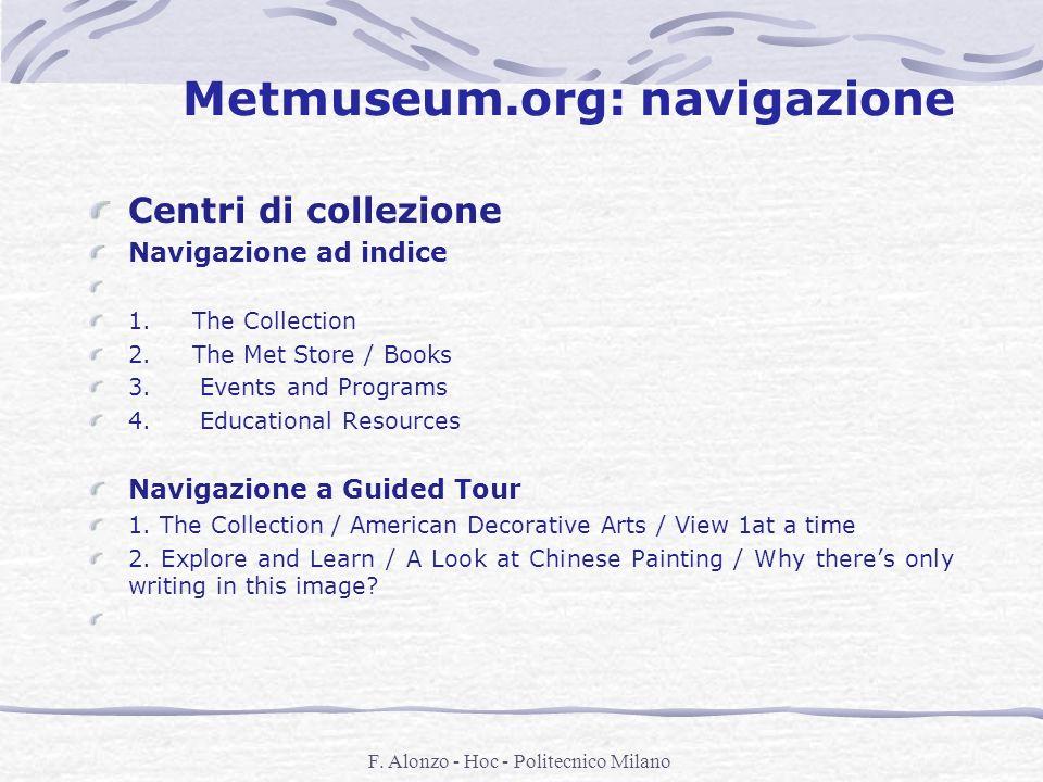 Metmuseum.org: navigazione