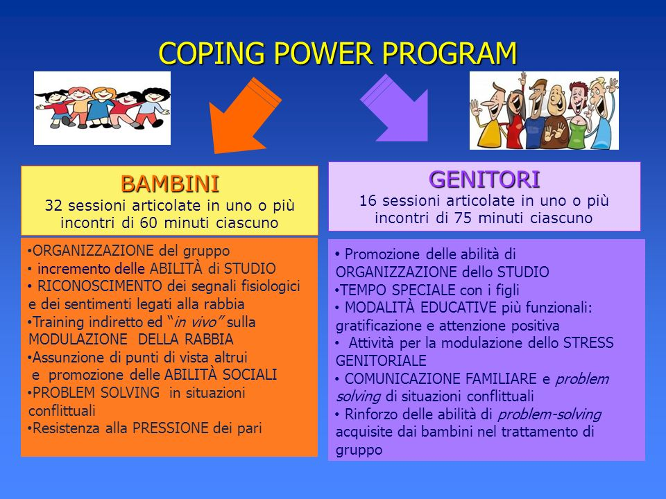 COPING POWER PROGRAM GENITORI BAMBINI