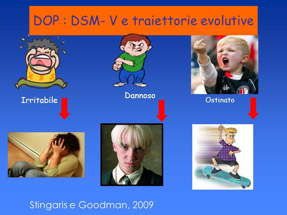 DOP : DSM- V e traiettorie evolutive