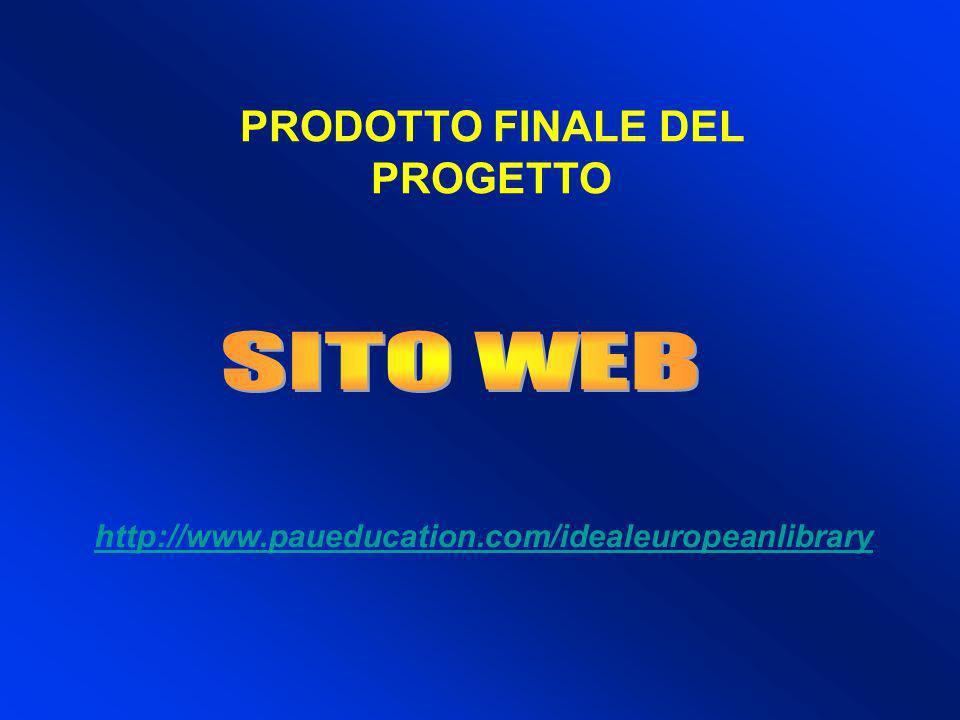 PRODOTTO FINALE DEL PROGETTO