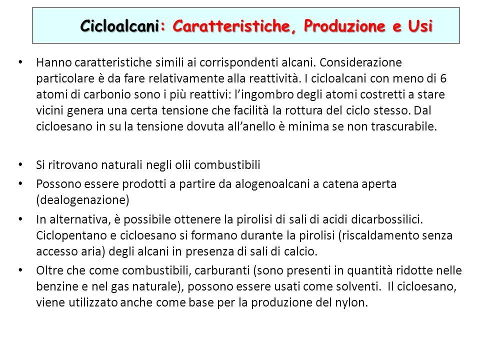 Cicloalcani: Caratteristiche, Produzione e Usi