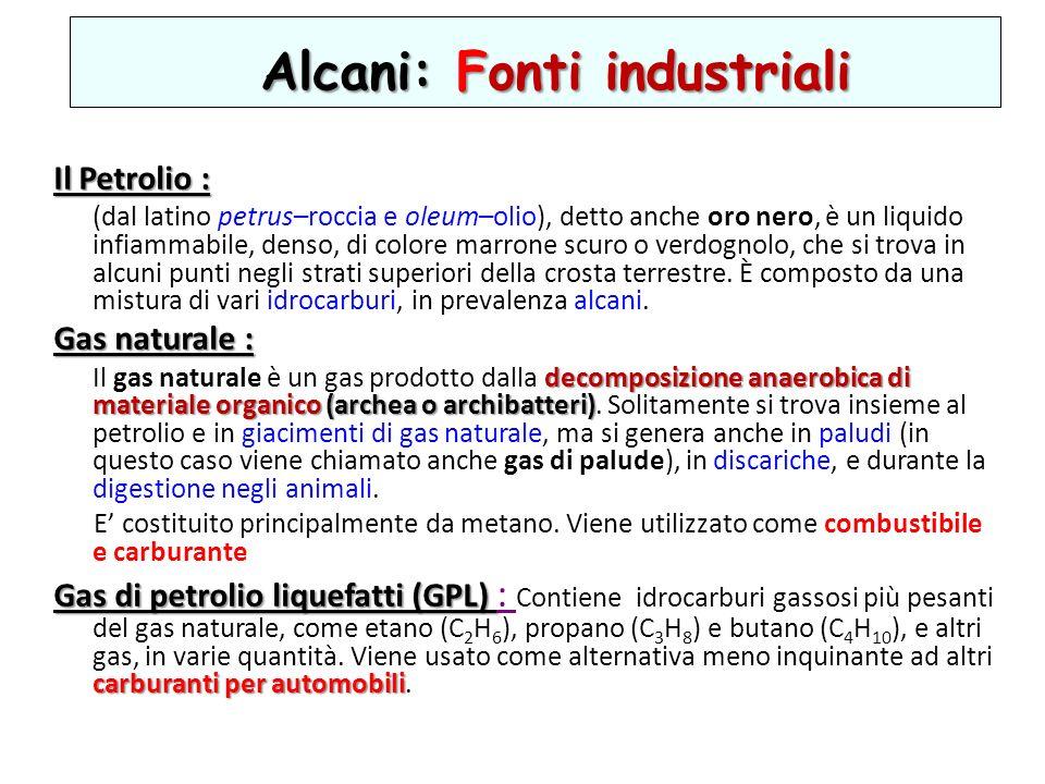 Alcani: Fonti industriali