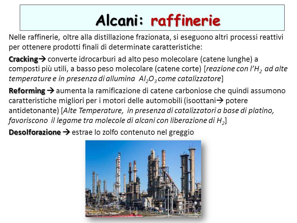 Alcani: raffinerie
