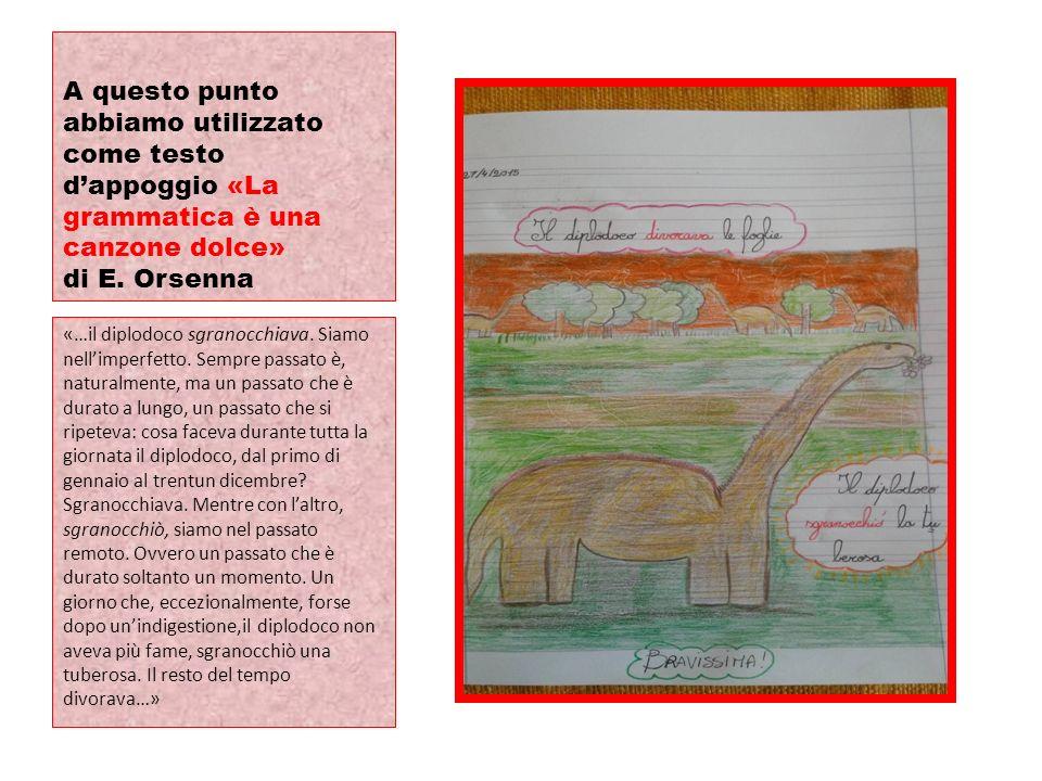 A questo punto abbiamo utilizzato come testo d'appoggio «La grammatica è una canzone dolce» di E. Orsenna