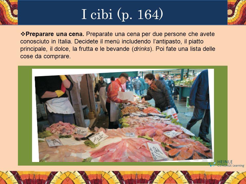 I cibi (p. 164)