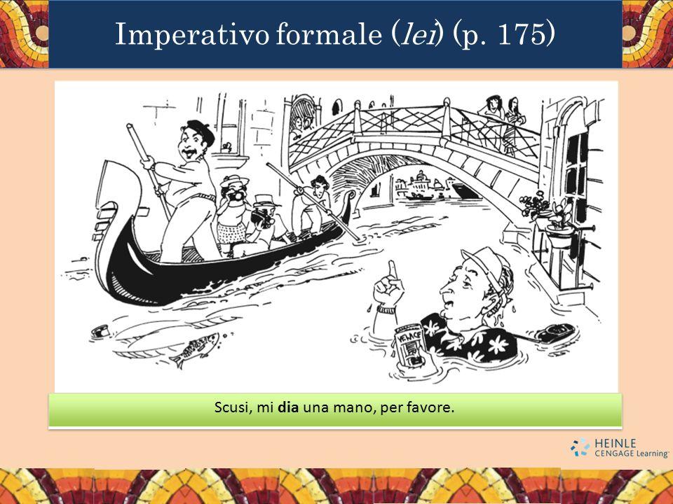Imperativo formale (lei) (p. 175)
