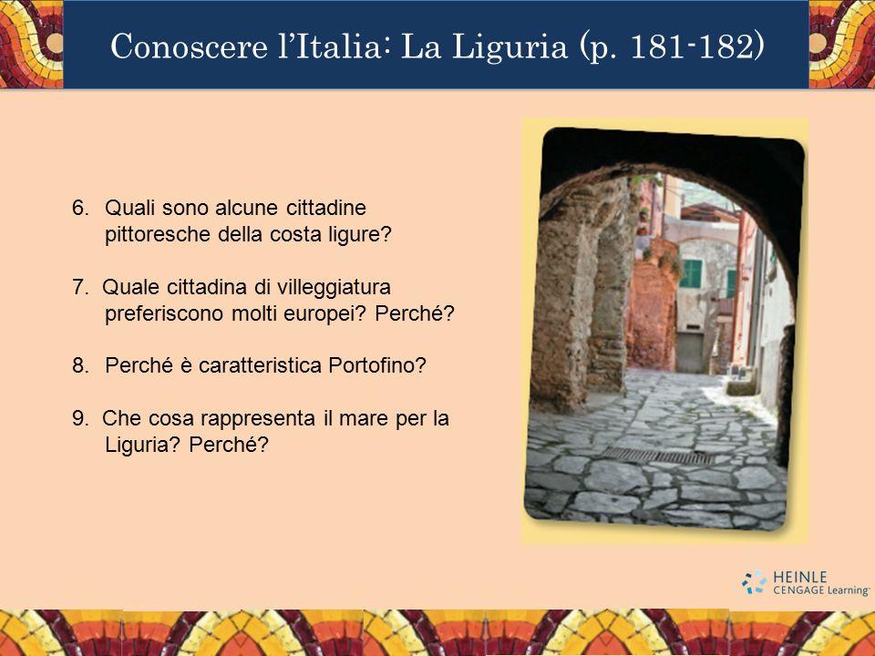 Conoscere l'Italia: La Liguria (p. 181-182)
