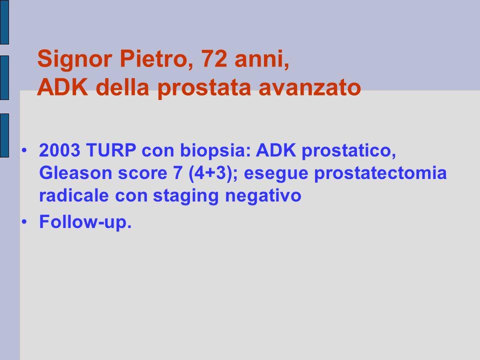 Signor Pietro, 72 anni, ADK della prostata avanzato