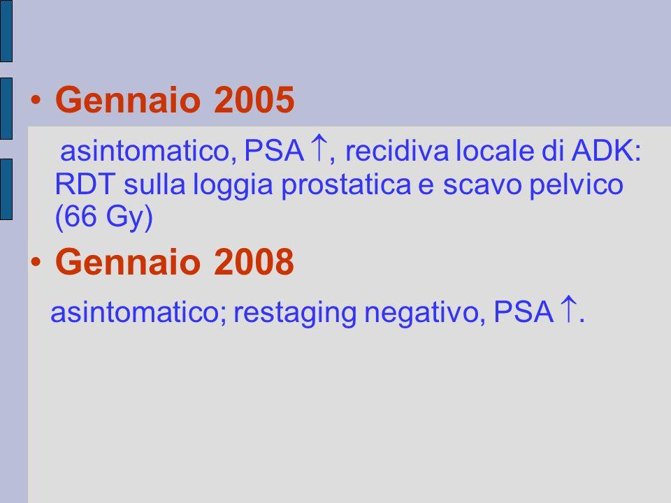 asintomatico; restaging negativo, PSA .