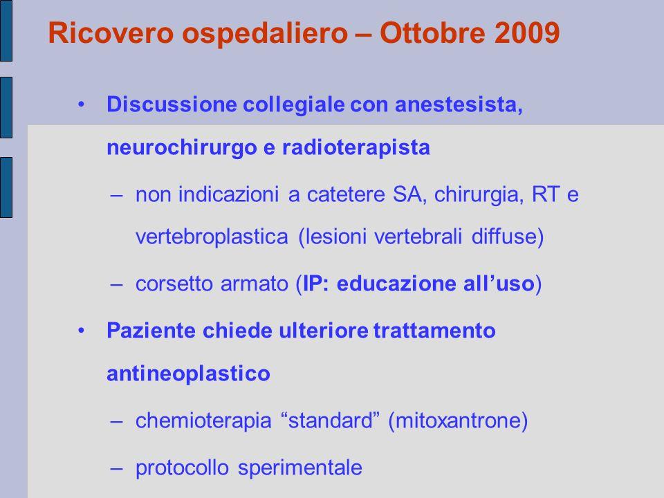 Ricovero ospedaliero – Ottobre 2009