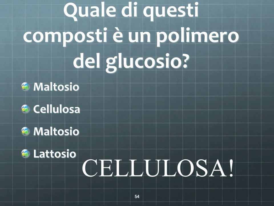 Quale di questi composti è un polimero del glucosio