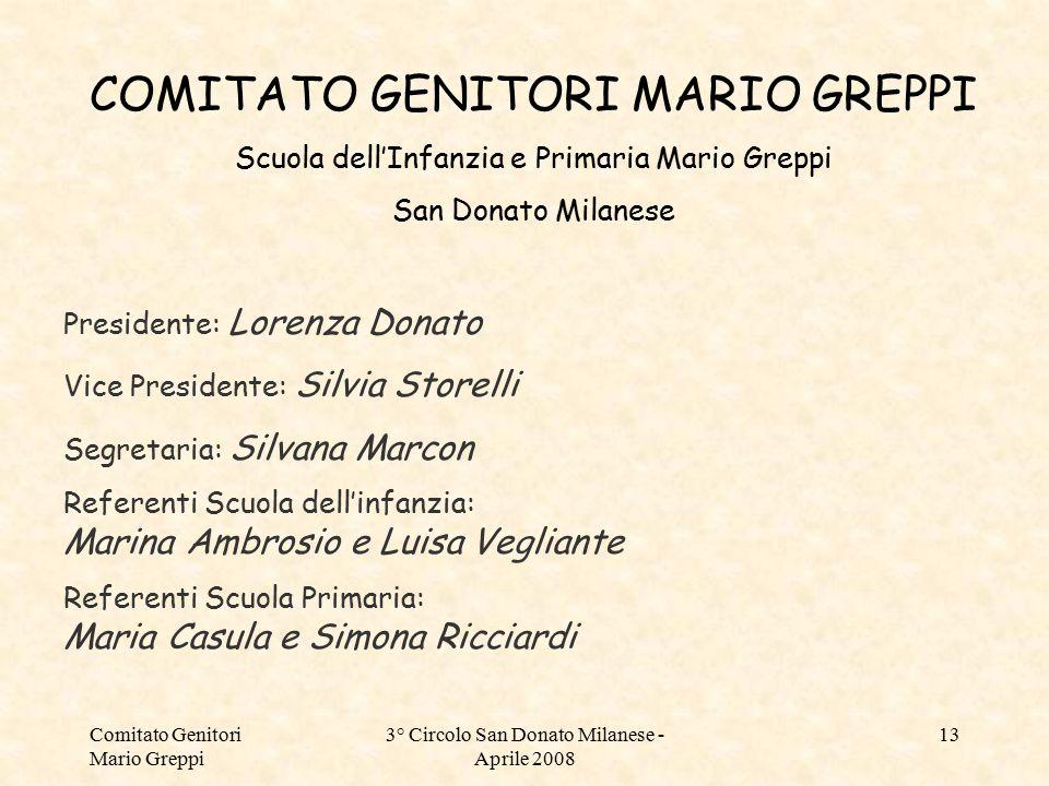 COMITATO GENITORI MARIO GREPPI