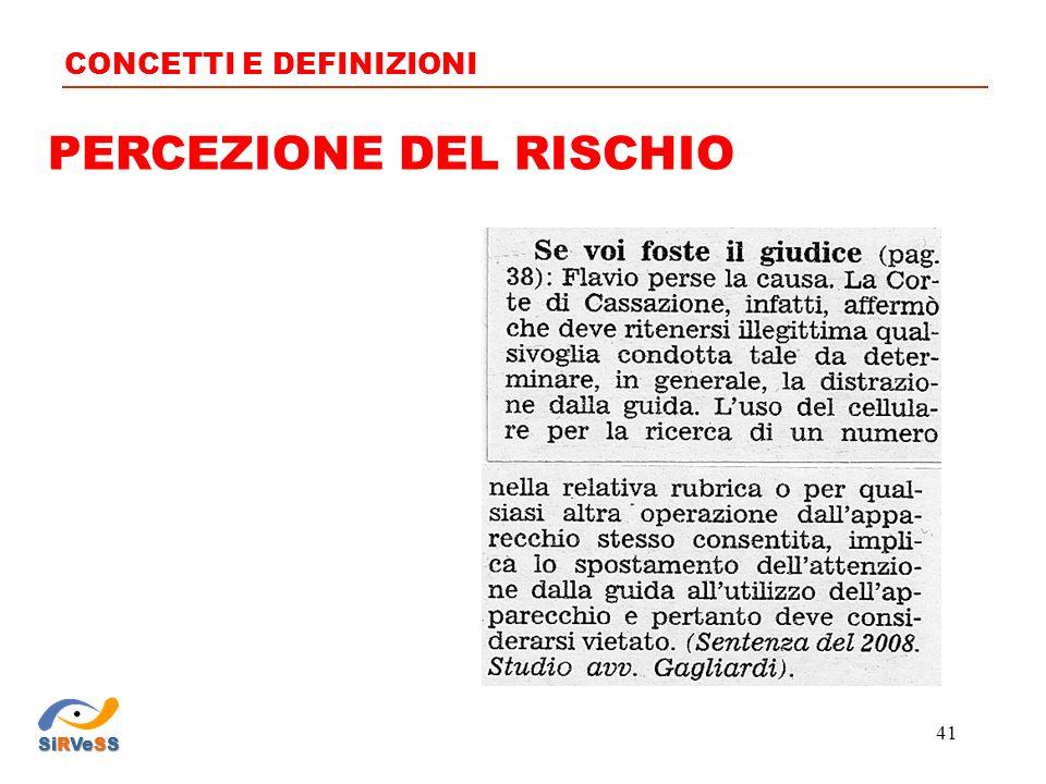 PERCEZIONE DEL RISCHIO