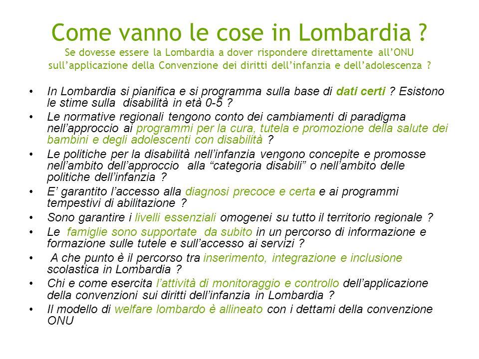Come vanno le cose in Lombardia