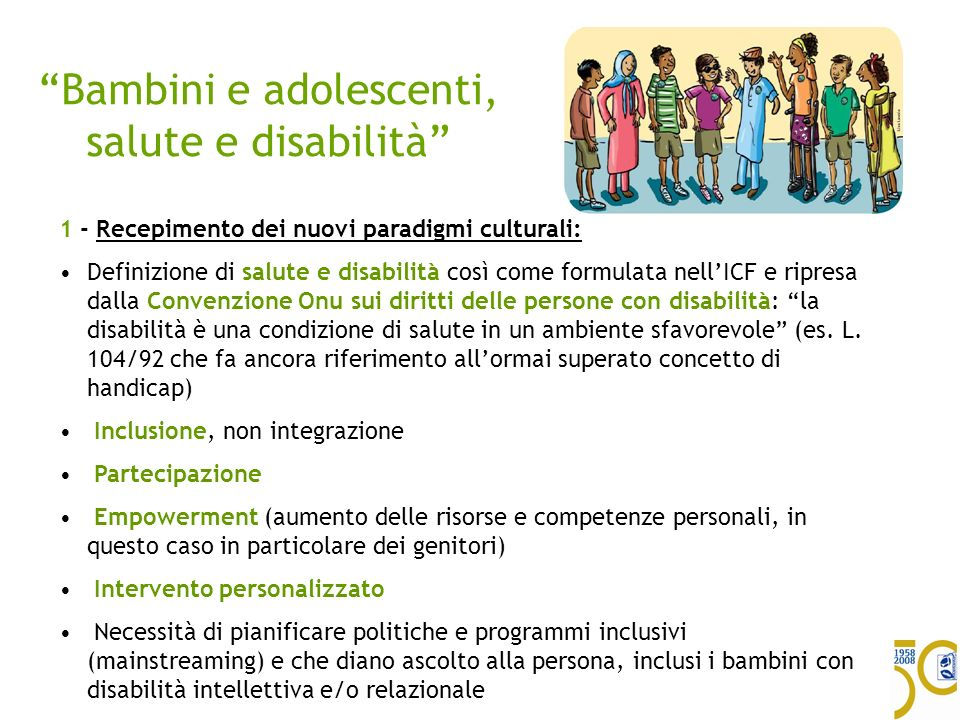 Bambini e adolescenti, salute e disabilità