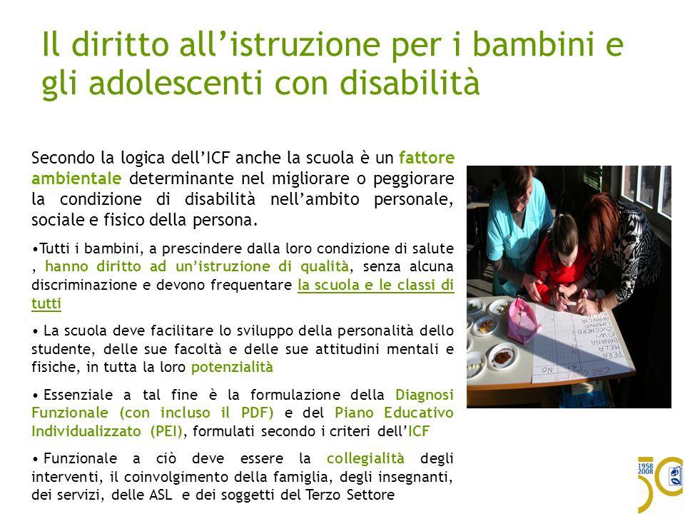Il diritto all'istruzione per i bambini e gli adolescenti con disabilità