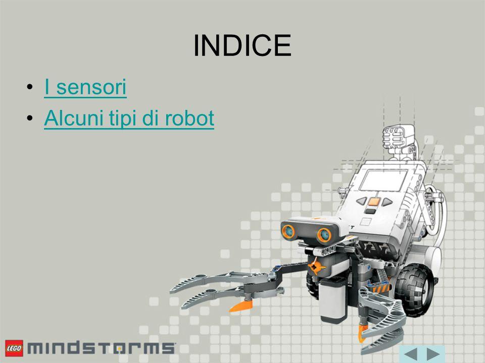 INDICE I sensori Alcuni tipi di robot