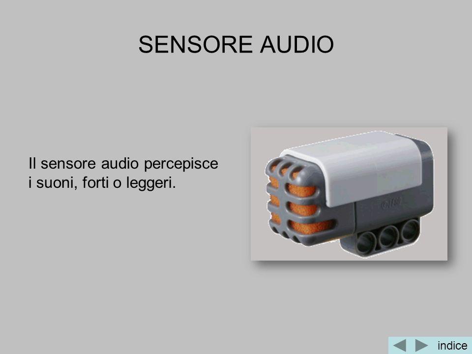 SENSORE AUDIO Il sensore audio percepisce i suoni, forti o leggeri.