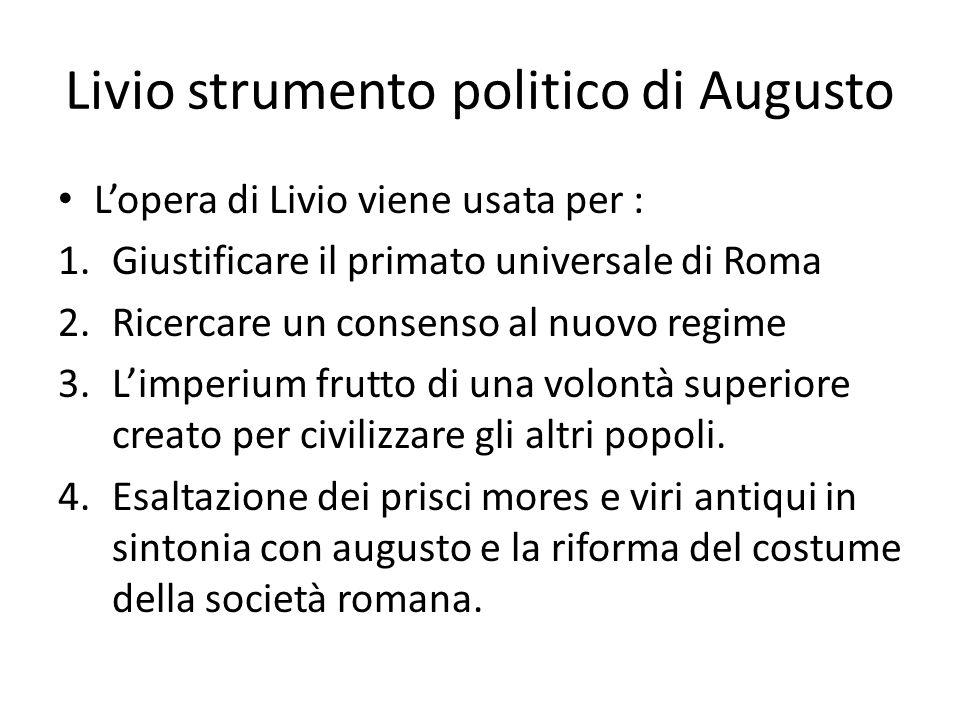 Livio strumento politico di Augusto