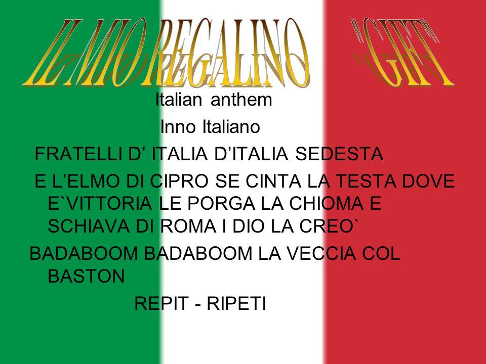 IL MIO REGALINO GIFT Italian anthem Inno Italiano