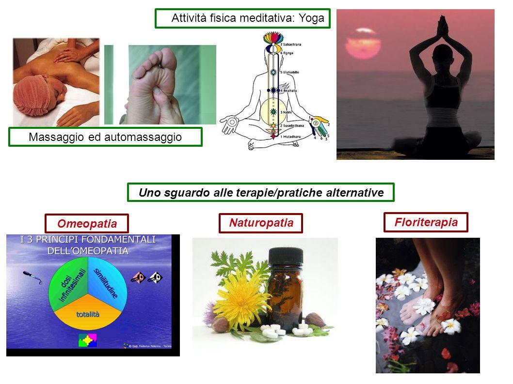 Uno sguardo alle terapie/pratiche alternative