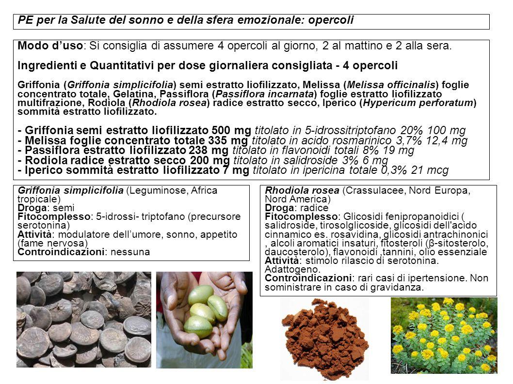 - Rodiola radice estratto secco 200 mg titolato in salidroside 3% 6 mg