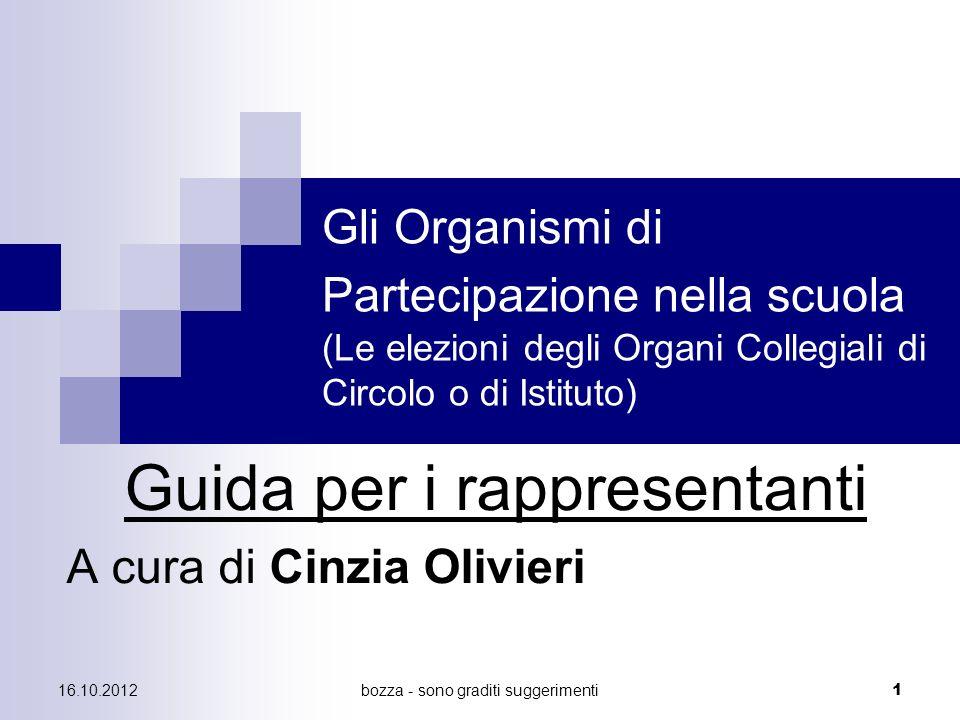 Guida per i rappresentanti A cura di Cinzia Olivieri
