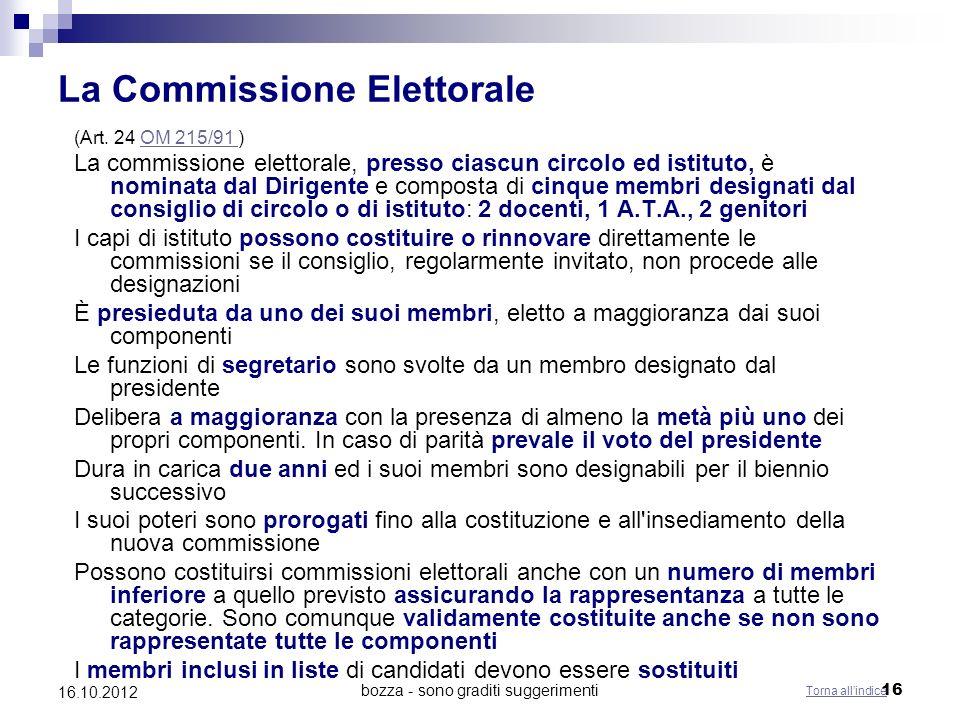 La Commissione Elettorale