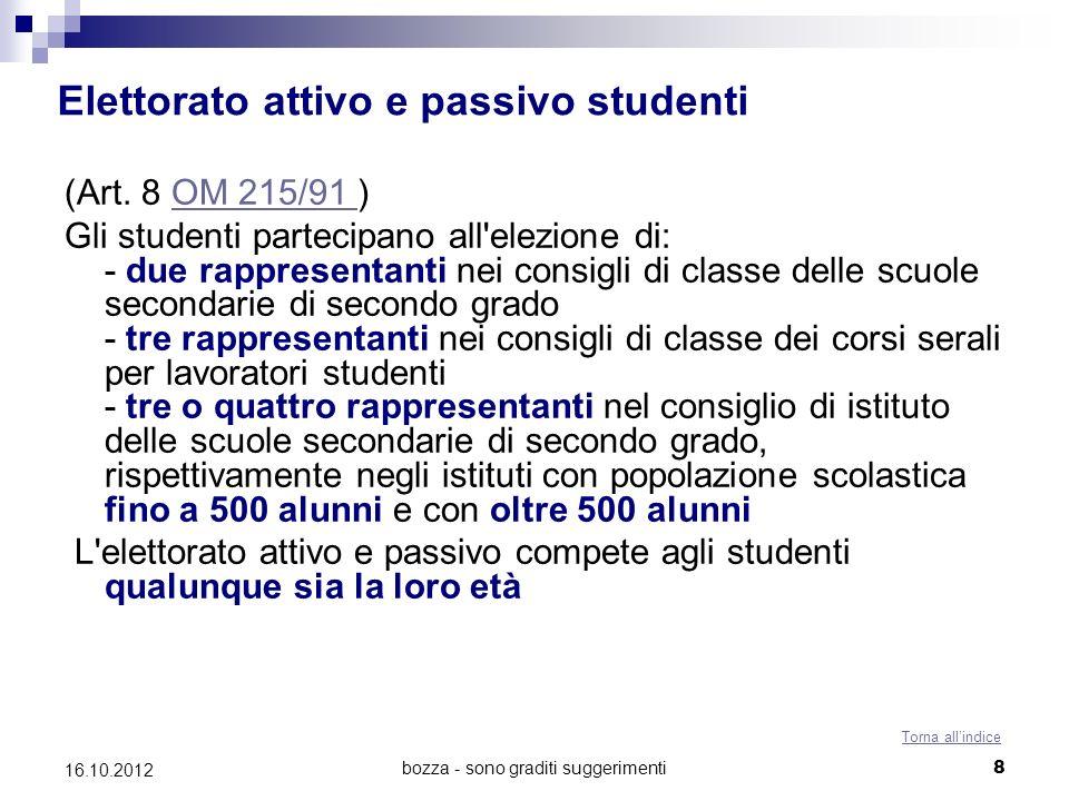 Elettorato attivo e passivo studenti