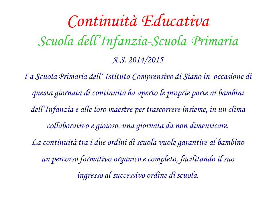 Continuità Educativa Scuola dell'Infanzia-Scuola Primaria