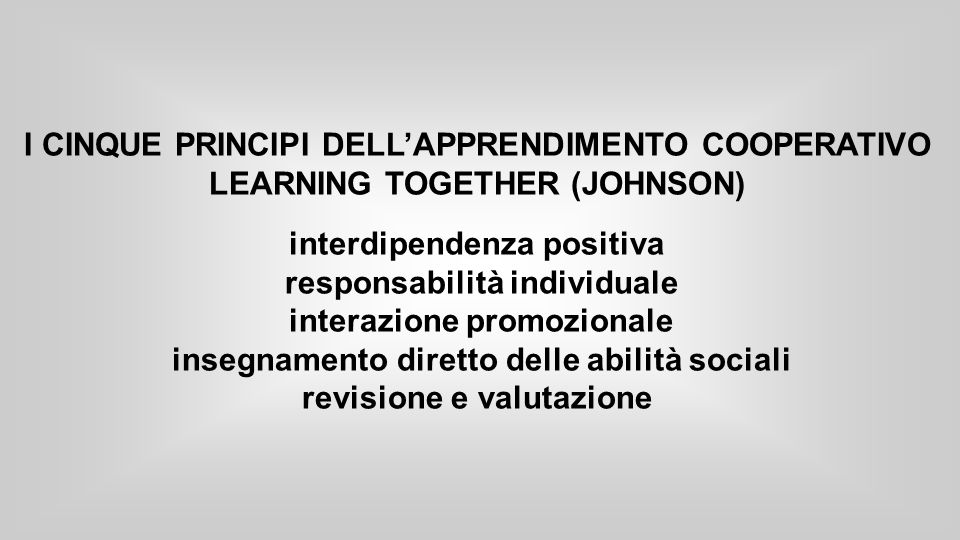 interdipendenza positiva responsabilità individuale