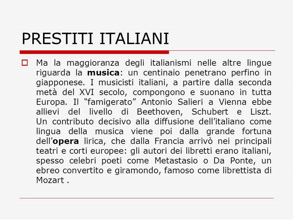 PRESTITI ITALIANI