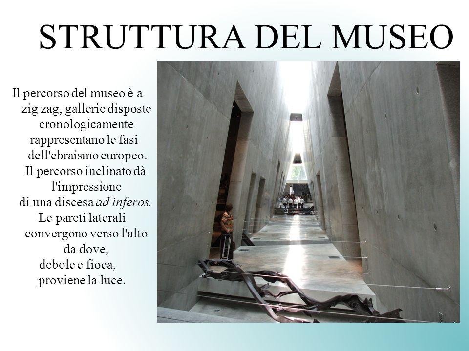 STRUTTURA DEL MUSEO Il percorso del museo è a zig zag, gallerie disposte cronologicamente. rappresentano le fasi.