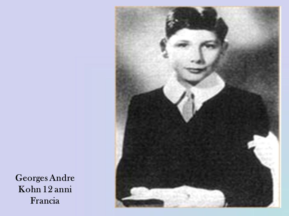 Georges Andre Kohn 12 anni Francia