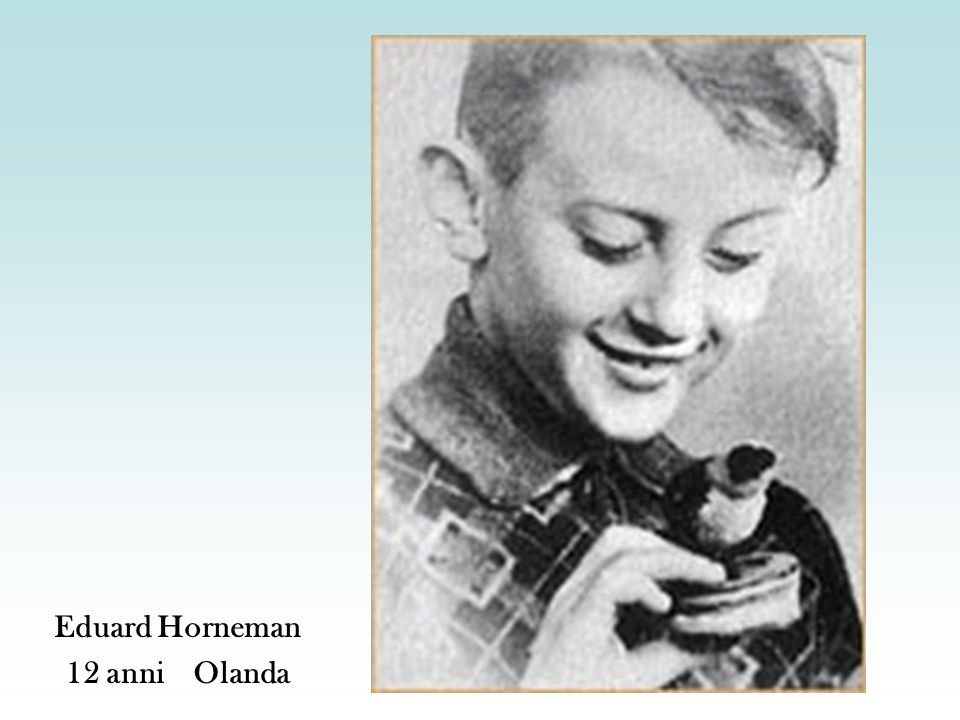 Eduard Horneman 12 anni Olanda