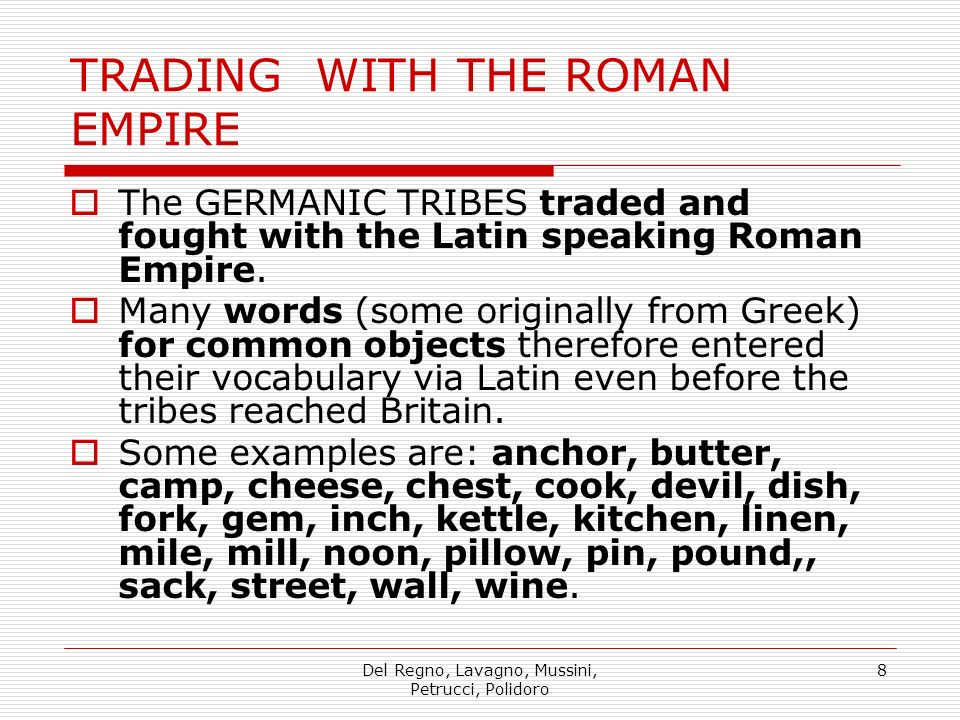TRADING WITH THE ROMAN EMPIRE