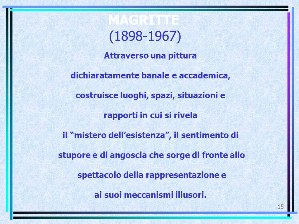 MAGRITTE (1898-1967) Attraverso una pittura