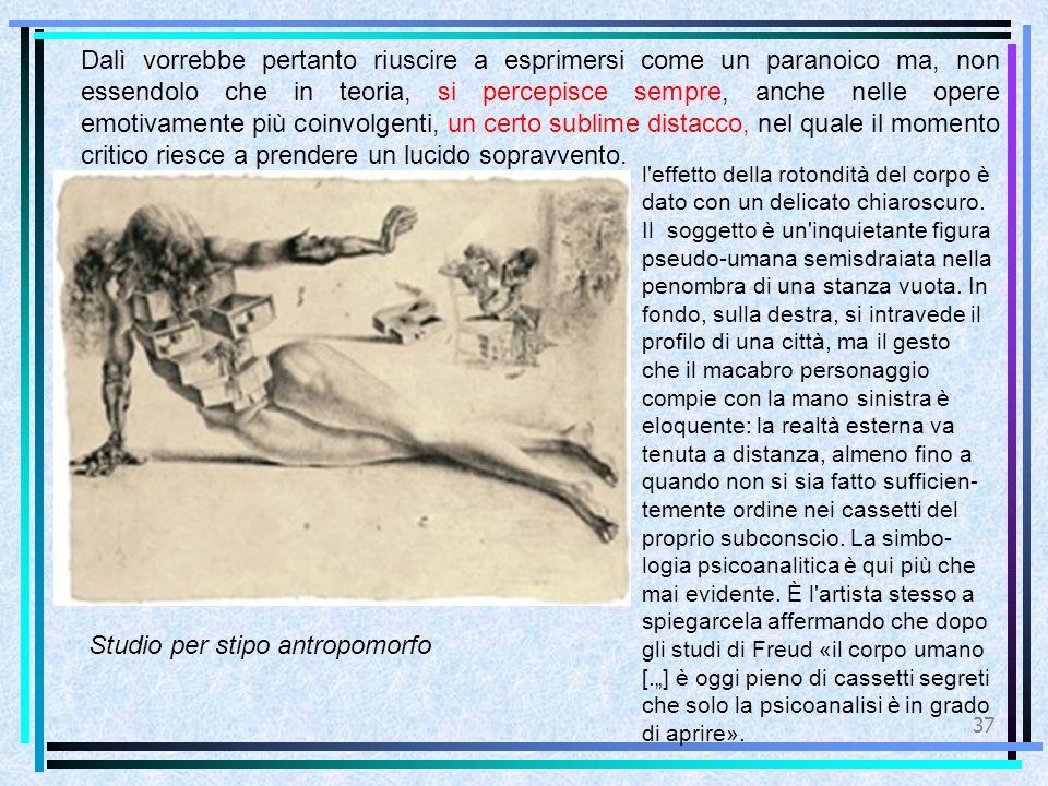 Studio per stipo antropomorfo